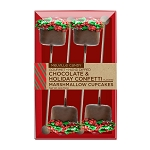 Chocolate Holiday Confetti Marshmallow Cupcakes: 3 Gift Kraft Sets