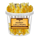 Honey Bear & Honey Pot Lollipop Assortment: 30 Pack Bucket