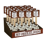Mini Marshmallow Hot Chocolate Spoons: 16 Pack Caddy