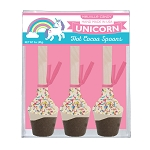 Unicorn Hot Chocolate Spoons: 3 Acetate Gift Sets