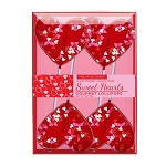 Valentine Confetti Heart Lollipops: 3 Kraft Gift Sets