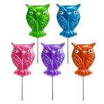 Glitter Owl Lollipops: 24 Pack