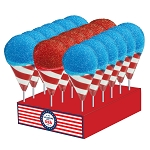 Patriotic Snow Cone Lollipops: 24 Pack Display