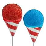 Patriotic Snow Cone Lollipops: 24 Pack