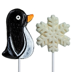Penguin & Snowflake Lollipop Assortment: 24 Pack