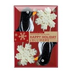 Penguin & Snowflake Lollipop Assortment: 3 Kraft Gift Sets