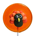 Turkey Royal Icing Lollipops: 24 Pack