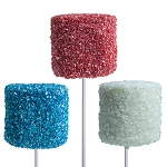 Giant Red, White & Blue Crystalz Marshmallows: 12 Pack