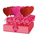 Sanded Crispy Rice Hearts: 12 Pack Display