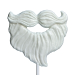 Giant Santa Beard Lollipop Masks: 6 Pack