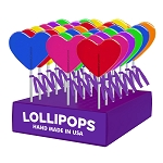 Kosher Medium Heart Lollipops: 24 Pack Display