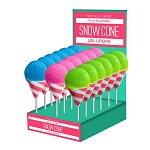 Snow Cone Lollipops: 24 Pack Display