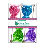 Glitter Owl Lollipops: 3 Acetate Gift Sets