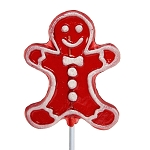 Whimsical Gingerbread Lollipops: 24 Pack