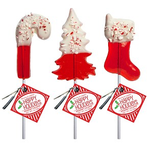 Chocolate Dipped Peppermint Lollipop Assortment: 24 Pack