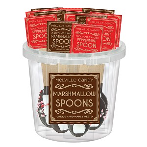 Peppermint & Mini Marshmallow Chocolate Dipped Spoon Assortment: 30 Pack Bucket