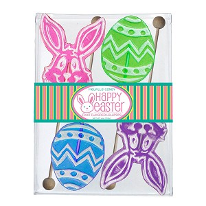 Frosted Egg & Bunny Lollipop Assortment: 3 Acetate Gift Sets