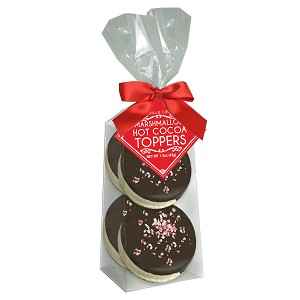 Dark Chocolate Peppermint Marshmallow Toppers: (3) 4PK GUSSET BAGS