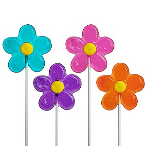 Spring Daisy Lollipops: 24 Pack