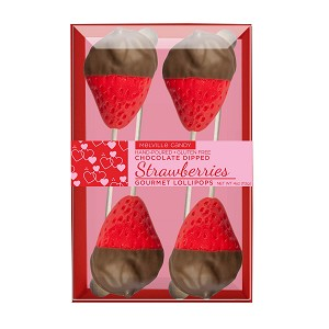 Chocolate Dipped Strawberry Lollipops: 3 Kraft Gift Sets