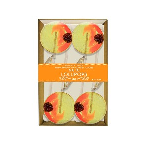 Mai Tai Cocktail Lollipops: 3 Kraft Gift Sets