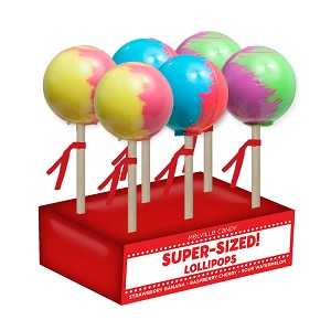 Super-Size Ball Lollipops: 6 Pack Display