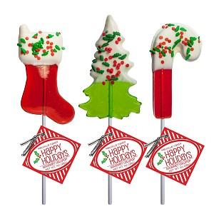 Chocolate Dipped Holiday Confetti Lollipop Assortment: 24 Pack
