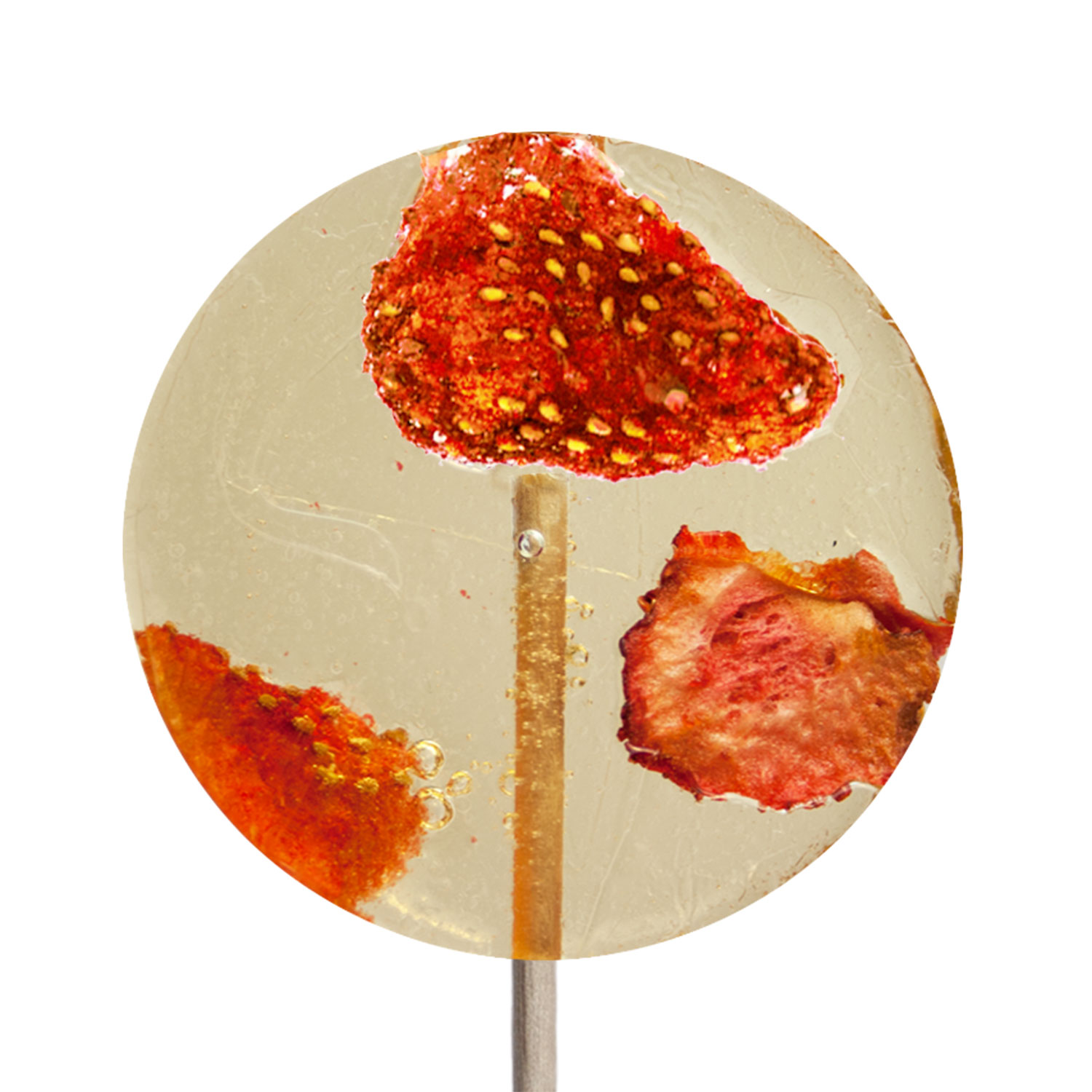 Strawberry & Champagne Cocktail Lollipops: 12 Pack