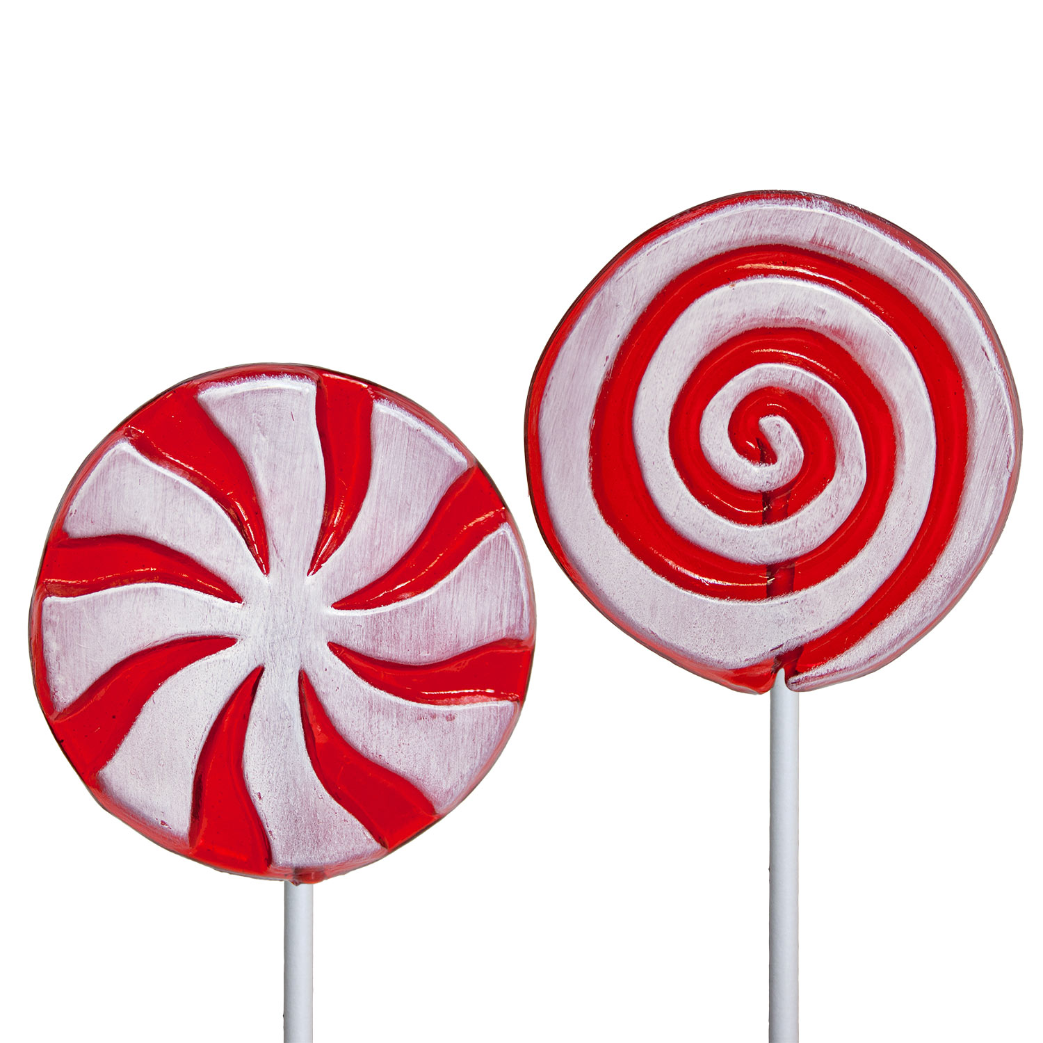 Frosted Holiday Swirl Pinwheel Lollipops By Melville Candy