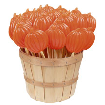 Pumpkin Lollipops: 30 Pack Basket