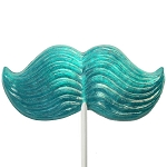 Giant Glitter Mustache Lollipop Masks: 6 Pack