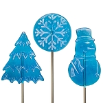 Frosted Blue & White Lollipop Assortment</br>Pack 24