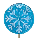 Frosted Snowflake Circle Lollipops</br>Pack 24