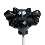 Classic Black Bat Lollipops: 24 Pack