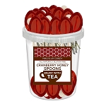 Cranberry Honey Spoons: 30 Pack Bucket