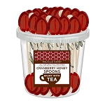 Cranberry Honey Spoons: 50 Pack Bucket