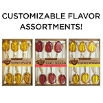 Customizable Honey Spoon Sampler: (3) 6PK Kraft Gift Sets