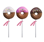 Dipped Confetti Doughnut Lollipops: 12 Pack