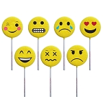 Emoji Lollipops: 24 Pack