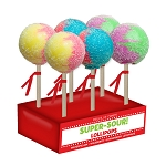 Super-Size Sour Lollipops: 6 Pack Display