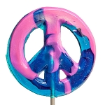 Giant Peace Sign Lollipops: 6 Pack