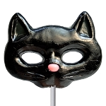 Giant Black Cat Lollipop Masks: 6 Pack