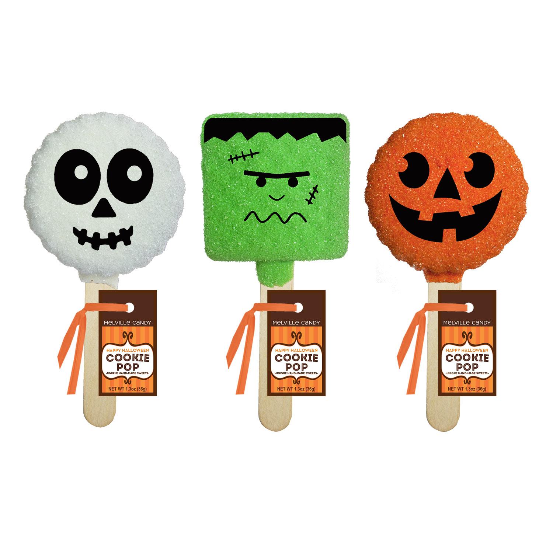 Halloween Pop.Halloween Cookie Pop Assortment By Melville Candy