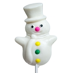 Large Snowman Lollipops: 24 Pack
