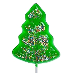 Large Holiday Tree Lollipops: 24 Pack