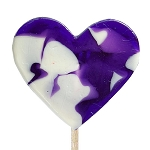 Medium Swirl Heart Lollipops: 24 Pack