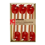 Mini Apple Cinnamon Stirrers:  (3) 6PK KRAFT GIFT SETS