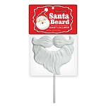 Giant Santa Beard Lollipop Masks: 6 Peg Bags