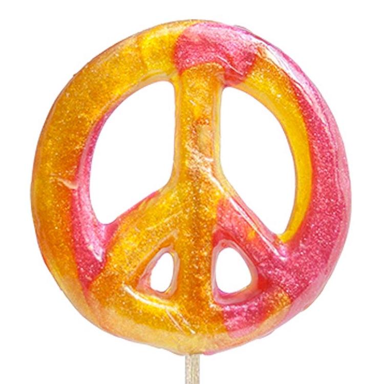 Peace Sign Lollipops: 12 Pack