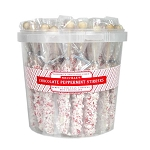 White Chocolate Peppermint Hot Chocolate Stirrer Large Bucket</br>Pack 50